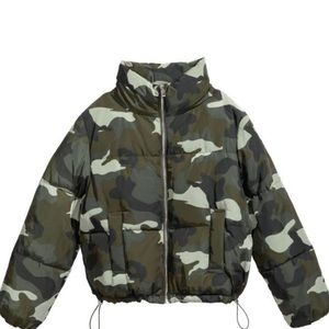 Puffed Camo Jacket